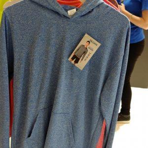 trends 2018 hoodie kapuzenshirt melange jeansblau