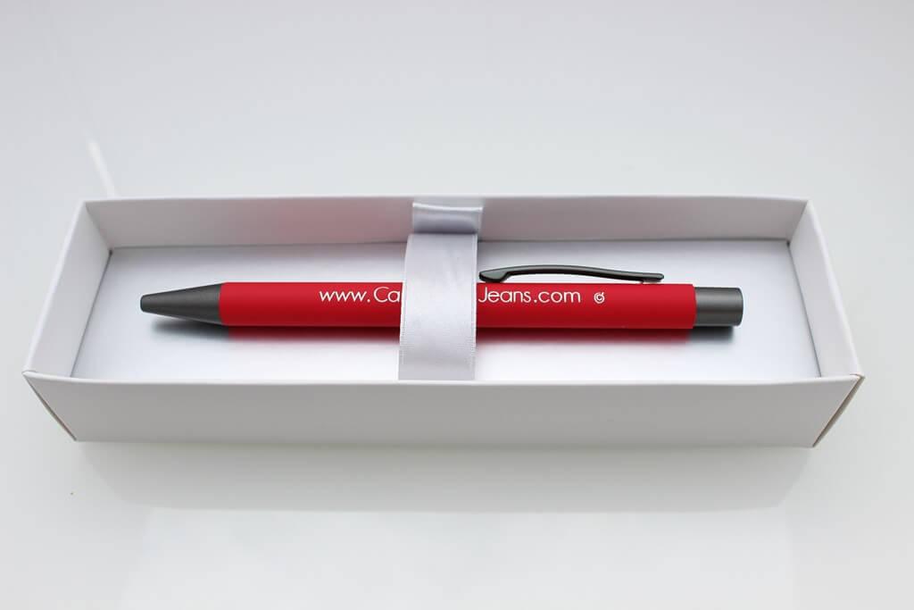 kugelschreiber metall verpackungr toepper werbung