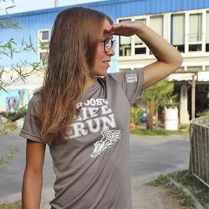 sportshirts toepperwerbung designshirts choose life run grau weiss 1 a 1