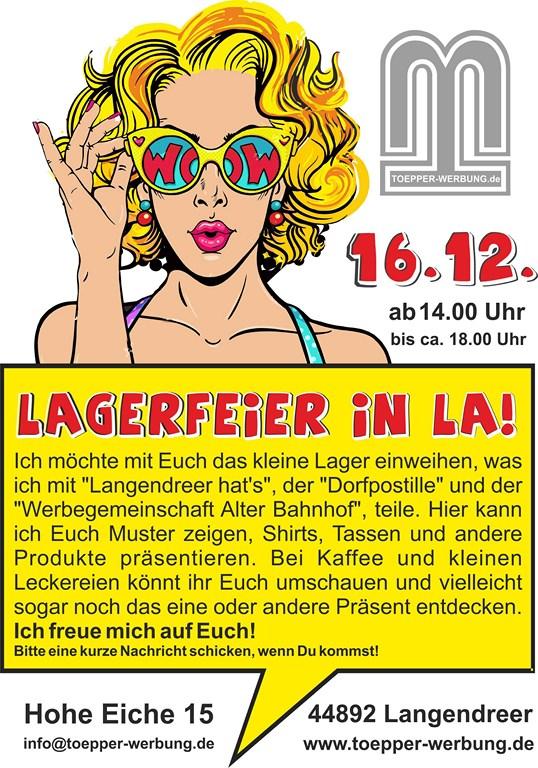 Lagereröffnung in Bochum -Langendreer von Toepper Werbung